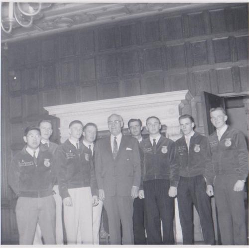 State officers with governor